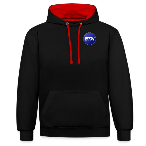 BTW - Logo - Contrast Colour Hoodie