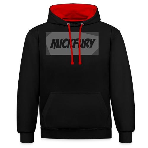 Mickfury Name - Grey - Contrast Colour Hoodie