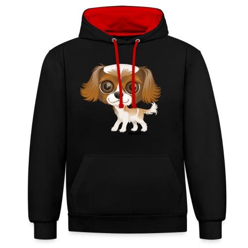 Hund - Kontrast-Hoodie