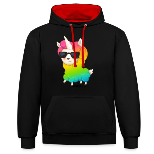 Rainbow animo - Bluza z kapturem z kontrastowymi elementami