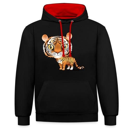 Tygrys - Bluza z kapturem z kontrastowymi elementami