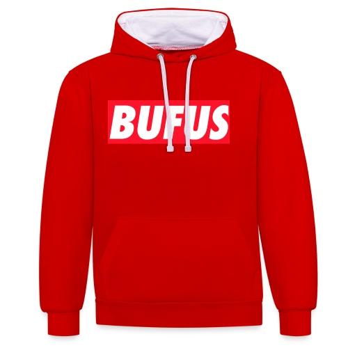 BUFUS - Felpa con cappuccio bicromatica