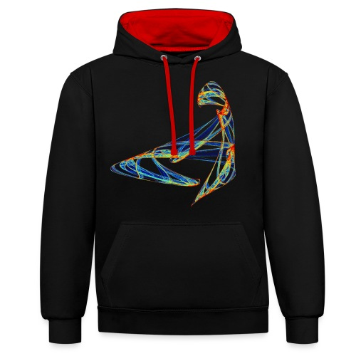 Happy play of colors 853 jet - Contrast Colour Hoodie
