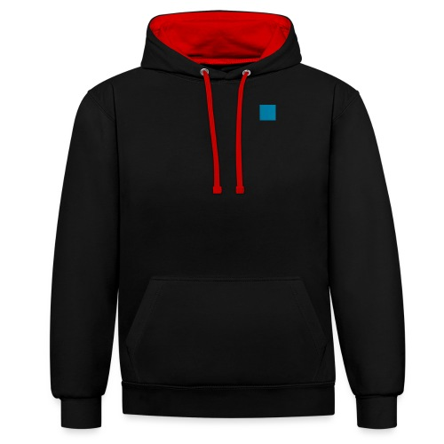 blue PNG - Contrast Colour Hoodie