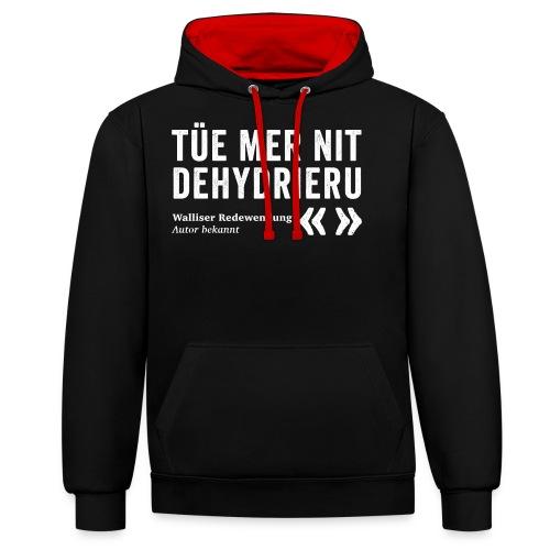 NIT DEHYDRIERU - Kontrast-Hoodie
