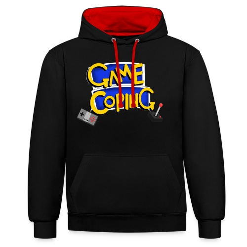 Game Coping Logo - Contrast Colour Hoodie