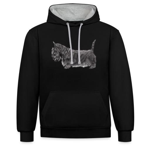 skotsk terrier ub - Kontrast-hættetrøje