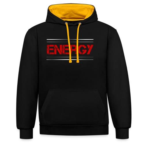 Sport - Energy - Kontrast-Hoodie