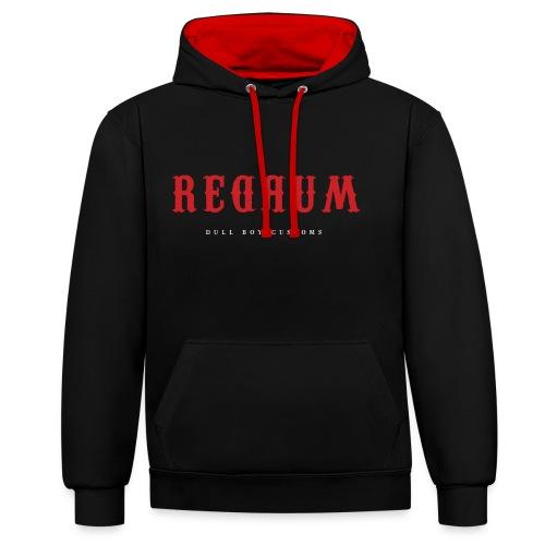 REDRUM - Kontrast-hettegenser