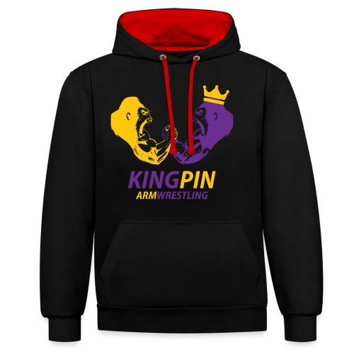 Kingpin Armwrestling - Contrast Colour Hoodie