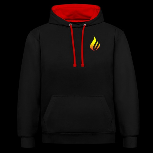 KING FIRE - Contrast Colour Hoodie