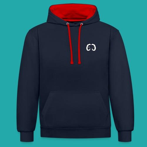 Crowd Control Logo - Contrast Colour Hoodie