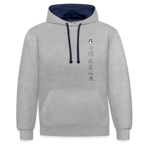 kanji kakuto bugei kokoro ryu - Sweat-shirt contraste