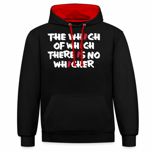 whichwhichwhich - Kontrast-Hoodie