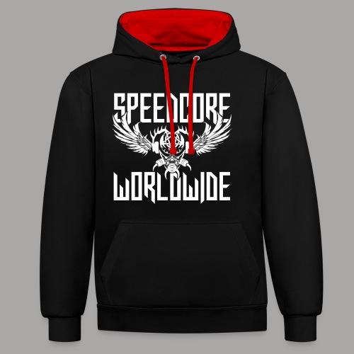 Speedcore Worldwide 2K19 - Kontrast-Hoodie