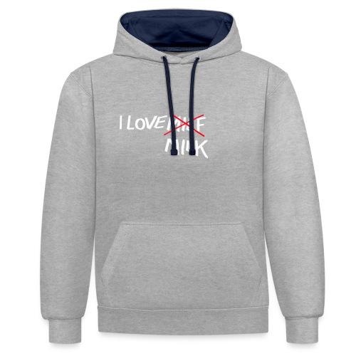 I Love MILK - Contrast hoodie