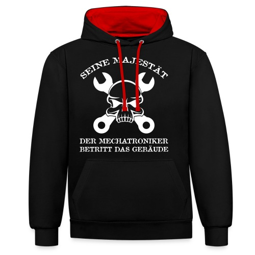 T-Shirt - Mechatroniker - Kontrast-Hoodie