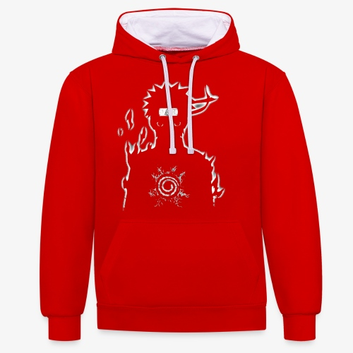 9 Tails Seal - Contrast Colour Hoodie