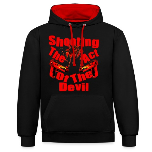 Shooting The Act Of Devil - Sweat-shirt contraste