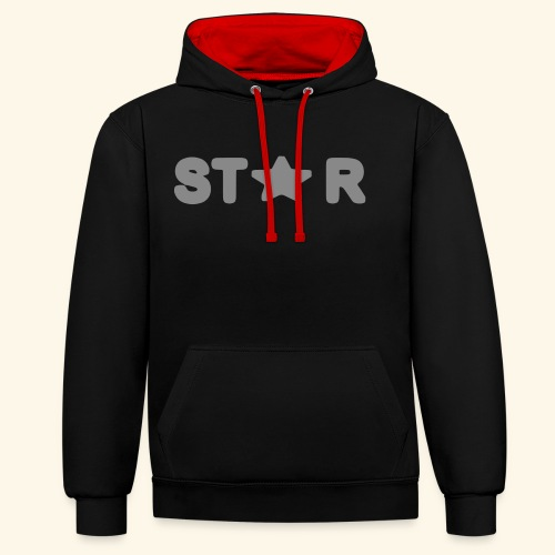 Star of Stars - Contrast Colour Hoodie