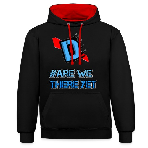 Deadmanj1990 #Are We There Yet - Contrast Colour Hoodie