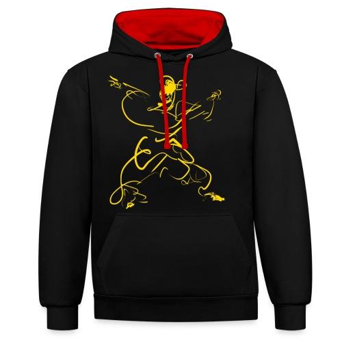 Kungfu figure - Contrast Colour Hoodie