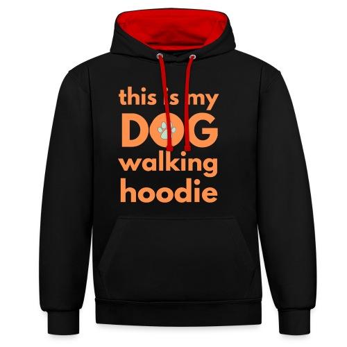 Flott og morsomt motiv til hundeeier - Kontrast-hettegenser