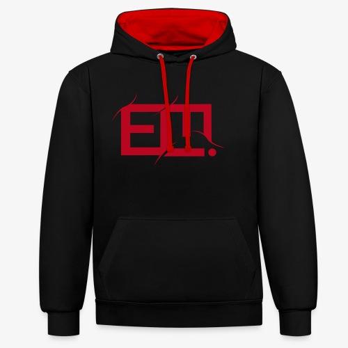 red emmiej logo - Contrast Colour Hoodie
