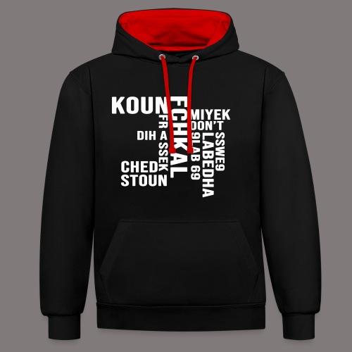 KOUN FCHKAL Blanc - Sweat-shirt contraste