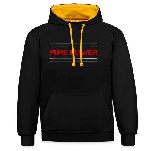Sport - Pure Power - Kontrast-Hoodie