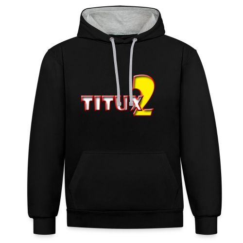 Titux2 - Contrast Colour Hoodie