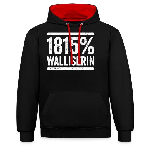 1815% WALLISERIN - Kontrast-Hoodie