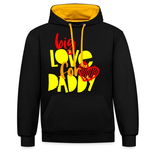 BIG LOVE FOR DADY - Sweat-shirt contraste