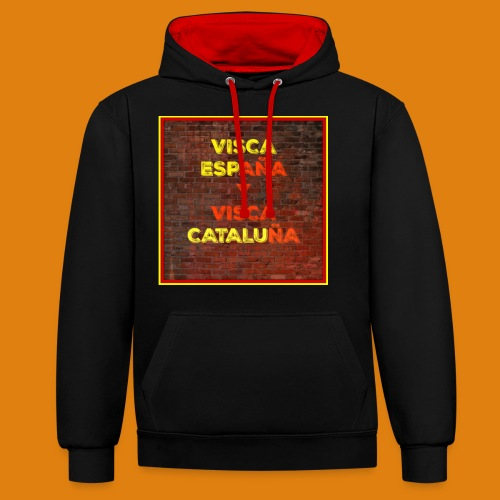 SPAIN AND CATALONIA - Contrast Colour Hoodie