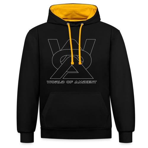 woa logo outlines - Contrast Colour Hoodie