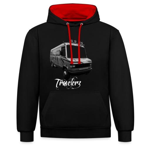 Travelerz 609 - Sweat-shirt contraste