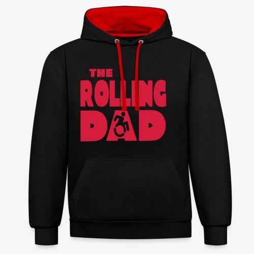 > De rollende papa in een rolstoel - Contrast hoodie