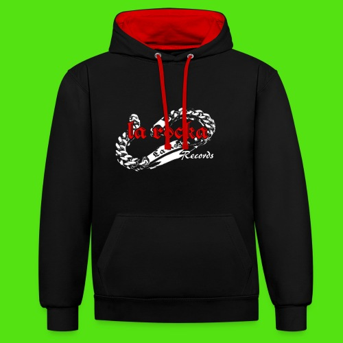 La Rocka black'n'red tsp - Contrast Colour Hoodie