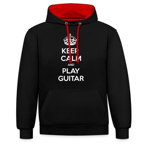 Keep Calm And Play Guitar - Felpa con cappuccio bicromatica