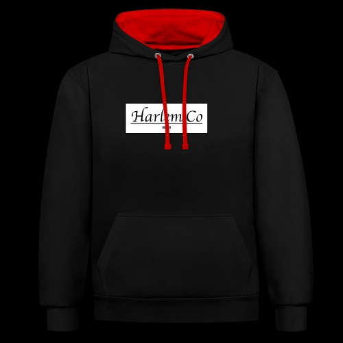 Harlem Co logo White and Black - Contrast Colour Hoodie