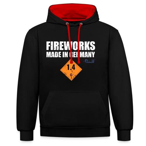 Feuerwerk aus Deutschland Pyrotechnik - Kontrast-Hoodie