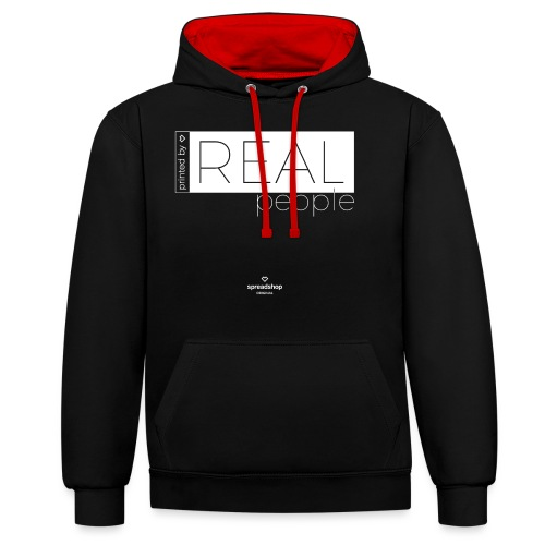 Real in white - Contrast Colour Hoodie