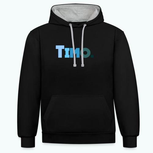 Timo in blauwe tinten - Contrast hoodie