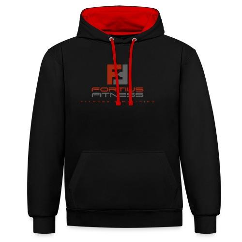 Fortius Fitness - Kontrast-hættetrøje