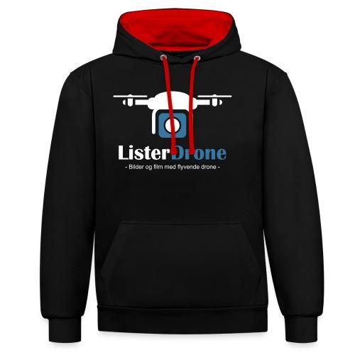ListerDrone logo - Kontrast-hettegenser
