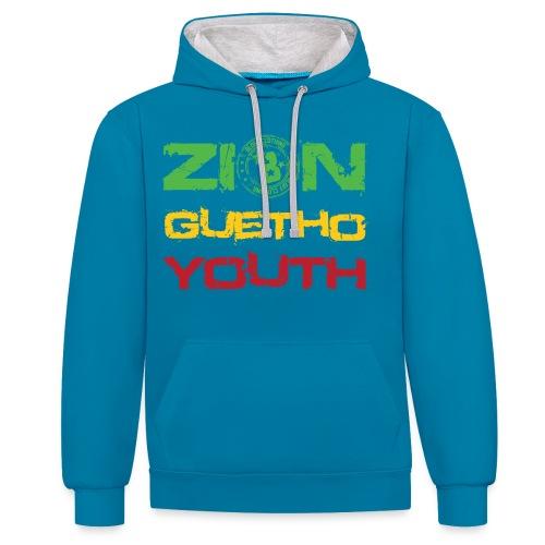 Zion Guetho Youth - Sudadera con capucha en contraste