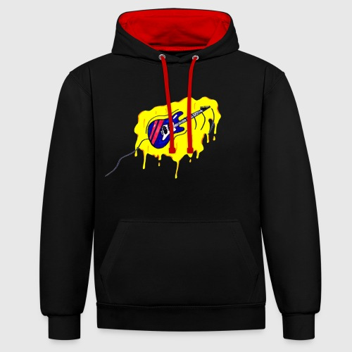 gitaar graffiti-style - Contrast hoodie