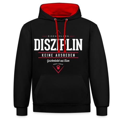 Disziplin - Kontrast-Hoodie