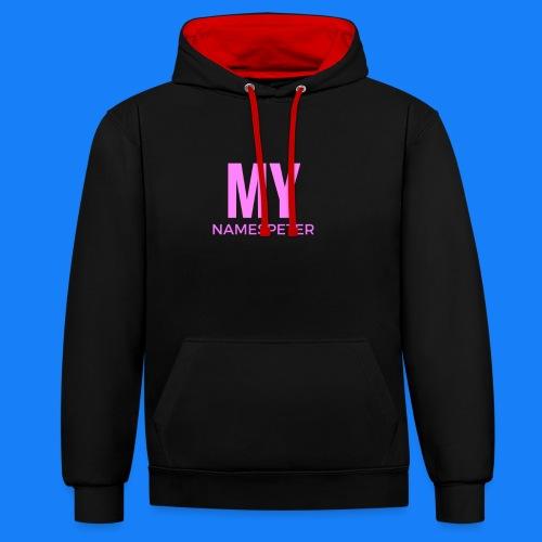 MYNAMESPEter - Contrast Colour Hoodie