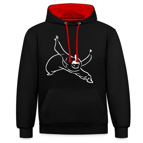 Kung Fu monk - Contrast Colour Hoodie